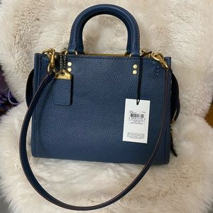 NWT Coach Rogue 25 Dark Denim Leather Bag